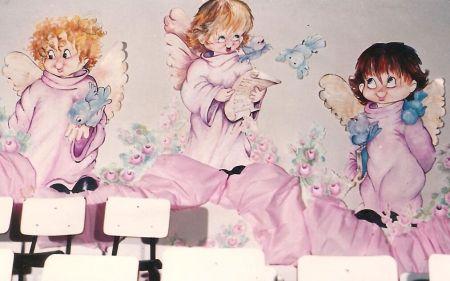 mural para escola infantil final de ano